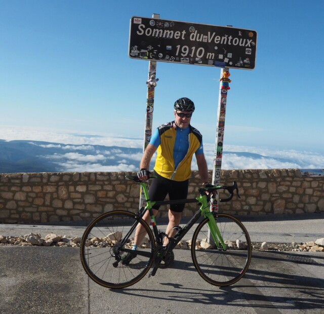 Great Joy as Ted Conquers Mount Ventoux